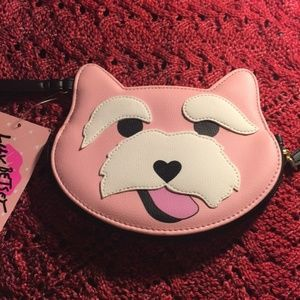 Betsey Johnson Pink Scottie Dog Coin Purse